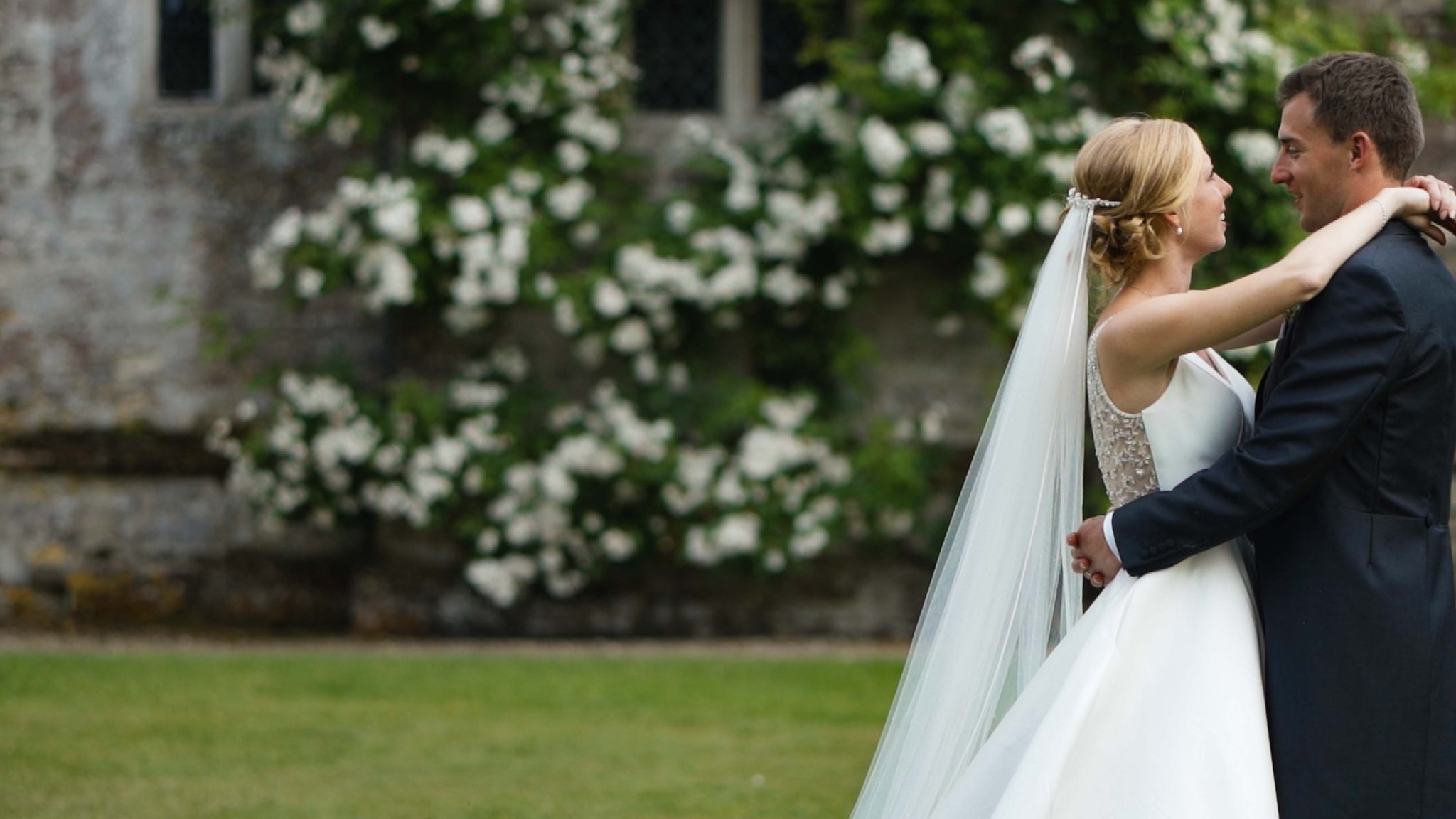 Wedding Couple at Athelhampton House